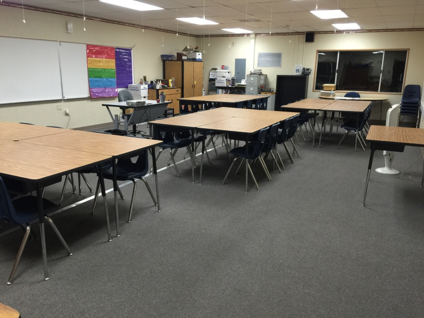 The room is finally ready for the 1st day of school!