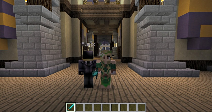 Xavier and I on the new server